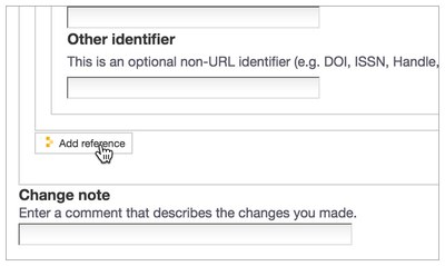 Screenshot: Reference Add Button