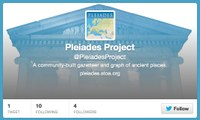Pleiades is now on Twitter